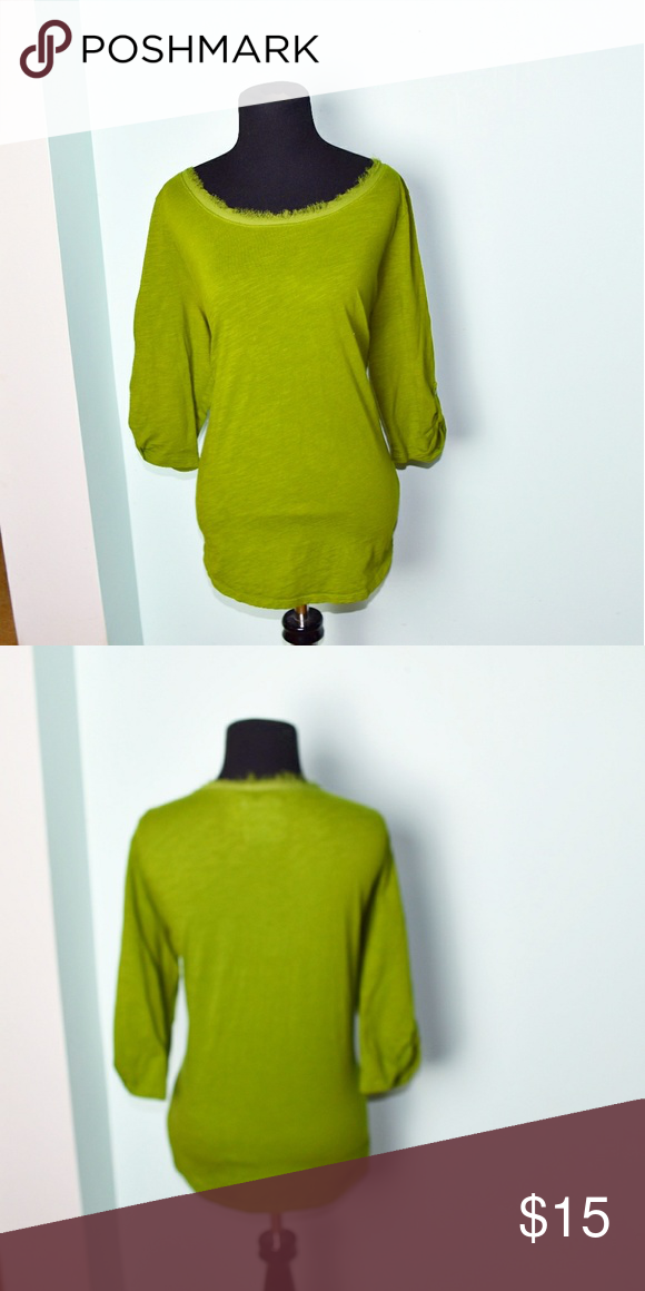 5235d589e020e Lane Bryant Olive Green Fringe Neckline Top In excellent condition!  Extremely soft