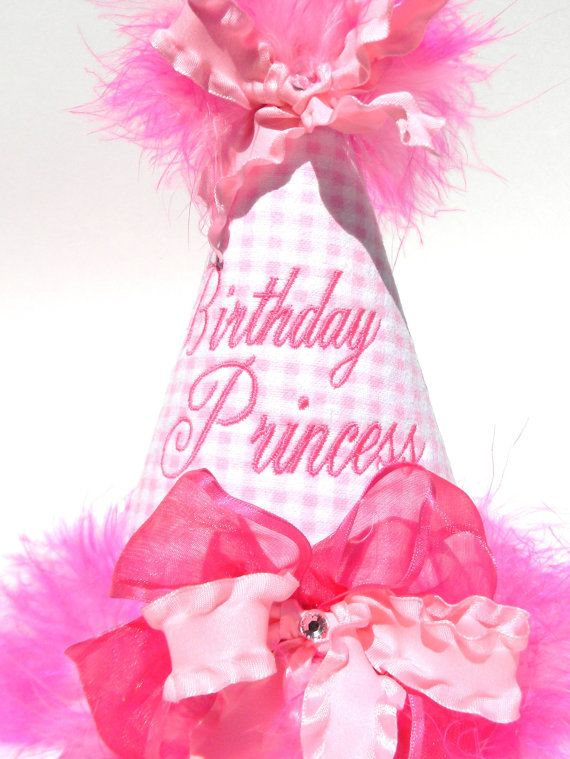 Boutique Style Birthday Party HatsPink by bubblesandcompany, $19.95