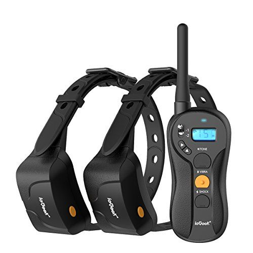 Iegeek Dog Training Shock Collar For 2 Dogs Rechargeable