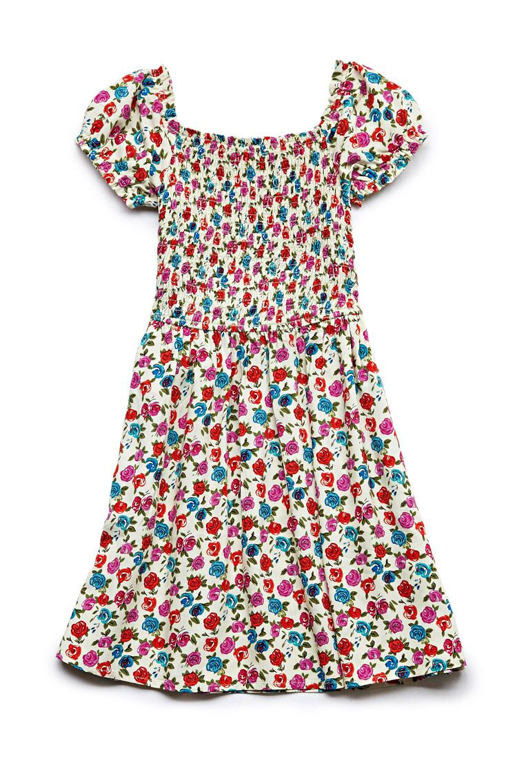 Floral print dress kids forever fgirls moda pinterest