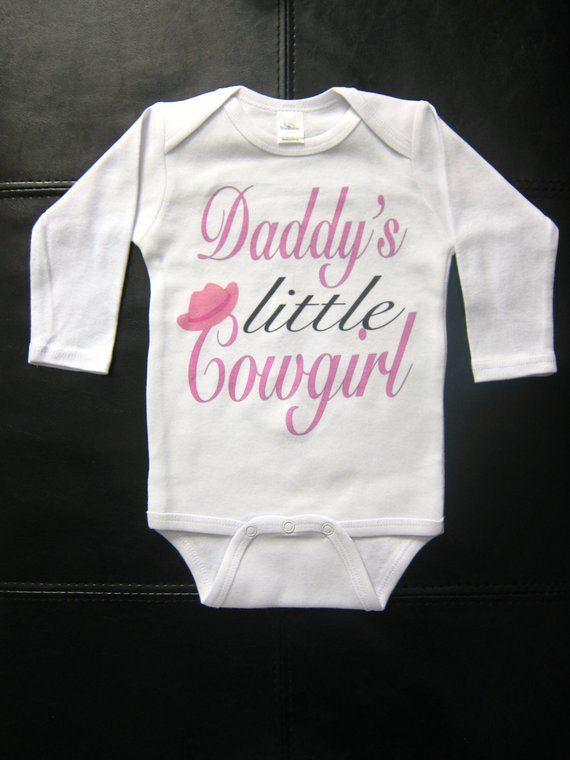 cd400cc23 Daddy's little Cowgirl funny cute novelty baby girl western redneck southern
