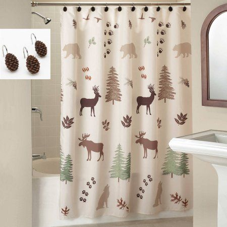 Home Curtains Large Shower Curtains Fabric Shower Curtains