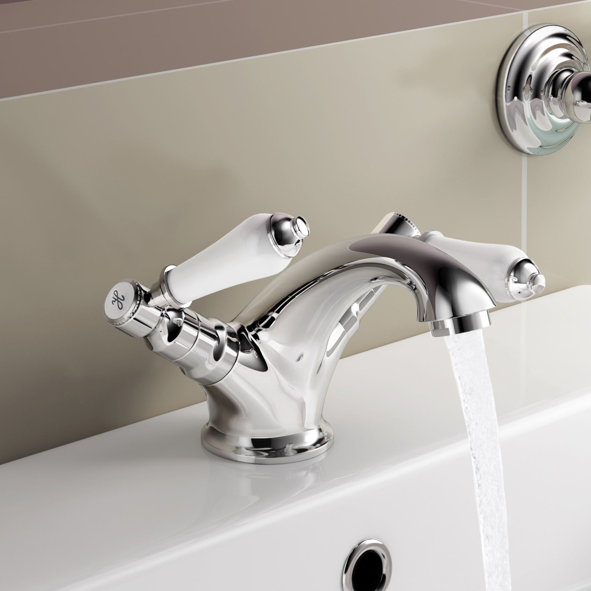 Regal Chrome Traditional Basin Sink Lever Mixer Tap