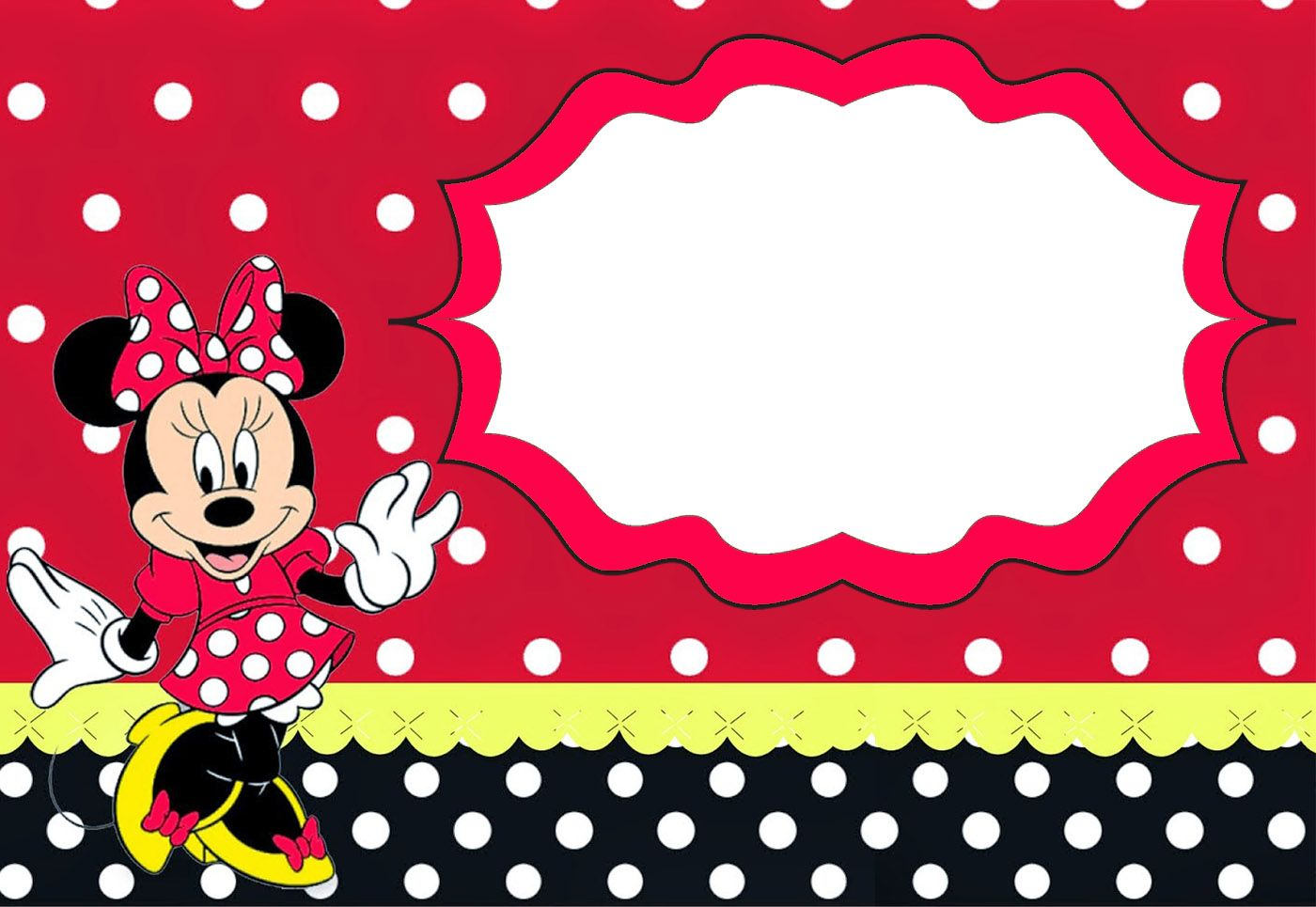 Minnie Mouse Birthday Party Invitation Template