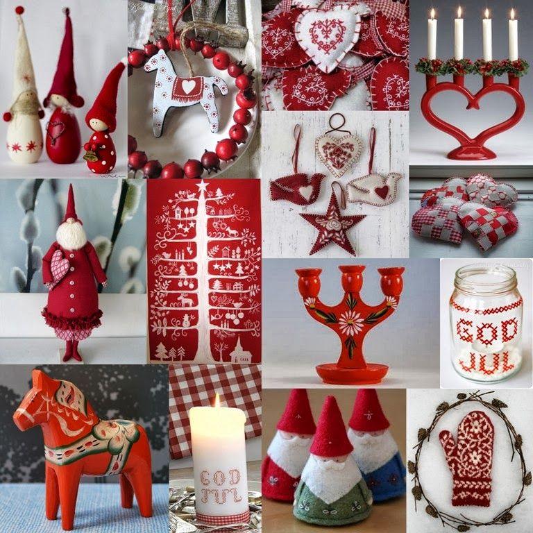 Nordic Christmas Ser Inte Allas Jul Ut Sa Har The Red White