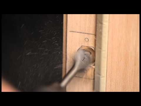 Installing A Deadbolt Strike Plate On Non Mortise Doorframe Video 7 Youtube With Images Door Installation Installation Door Strikes