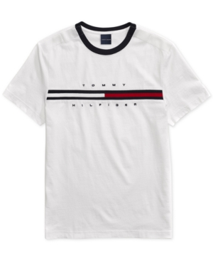 f8f65dcc Tommy Hilfiger Adaptive Men's Tino T-Shirt with Magnetic Closure at  Shoulders - White S