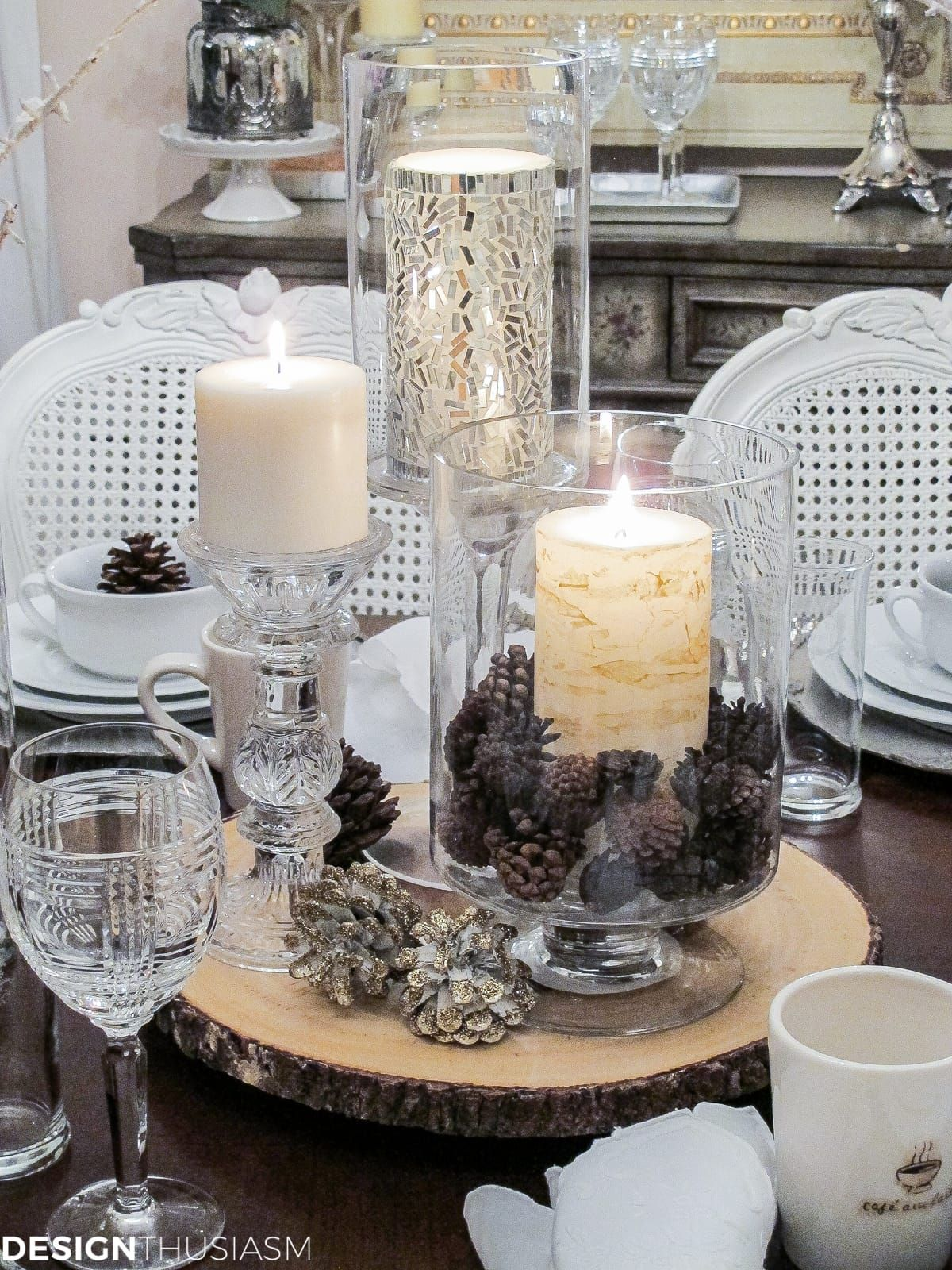 Winter Decorations Add Flavor To A White Tablescape - Designthuisasmcom