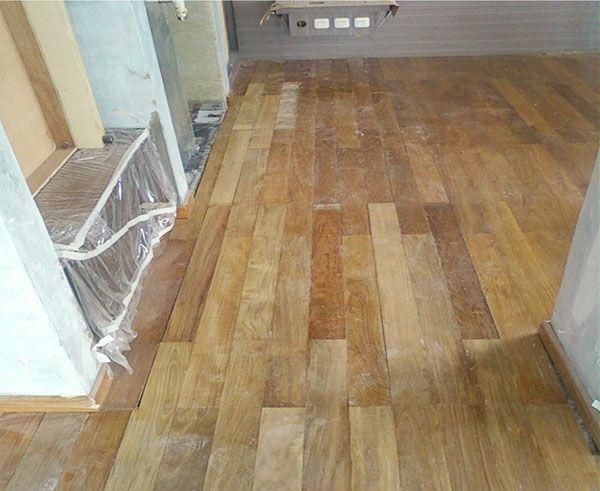 lantai kayu jati / teak wooden parquet Lantai kayu