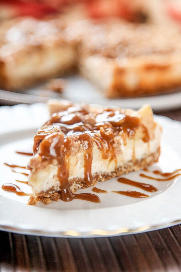 Caramel Apple Crisp Cheesecake Baking Beauty (With