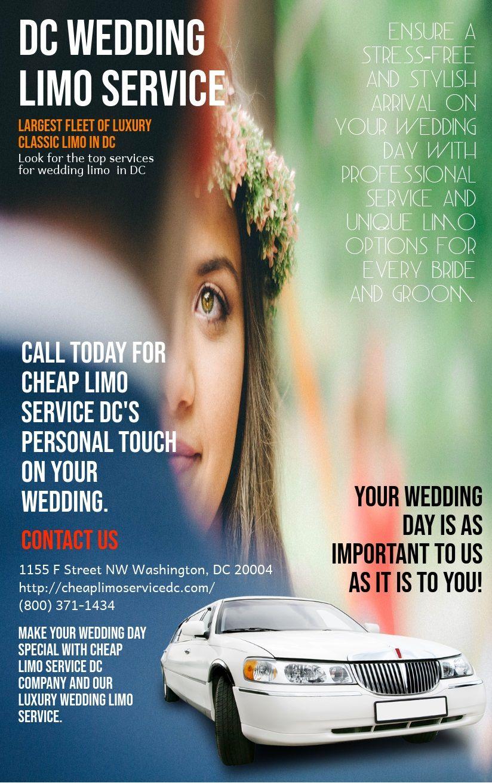 DC Wedding Limo Service Dc weddings, Wedding limo
