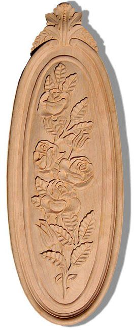Wood caving and la belle carving with rose design