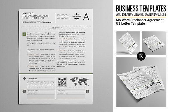 MS Word Freelancer Agreement USL Pinterest - agreement in word