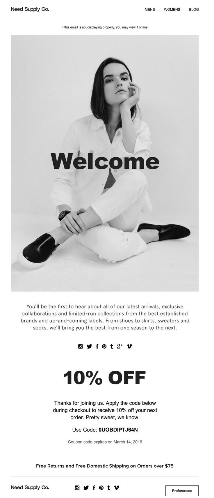 RH Mail | WEBSITE | Pinterest | Email design