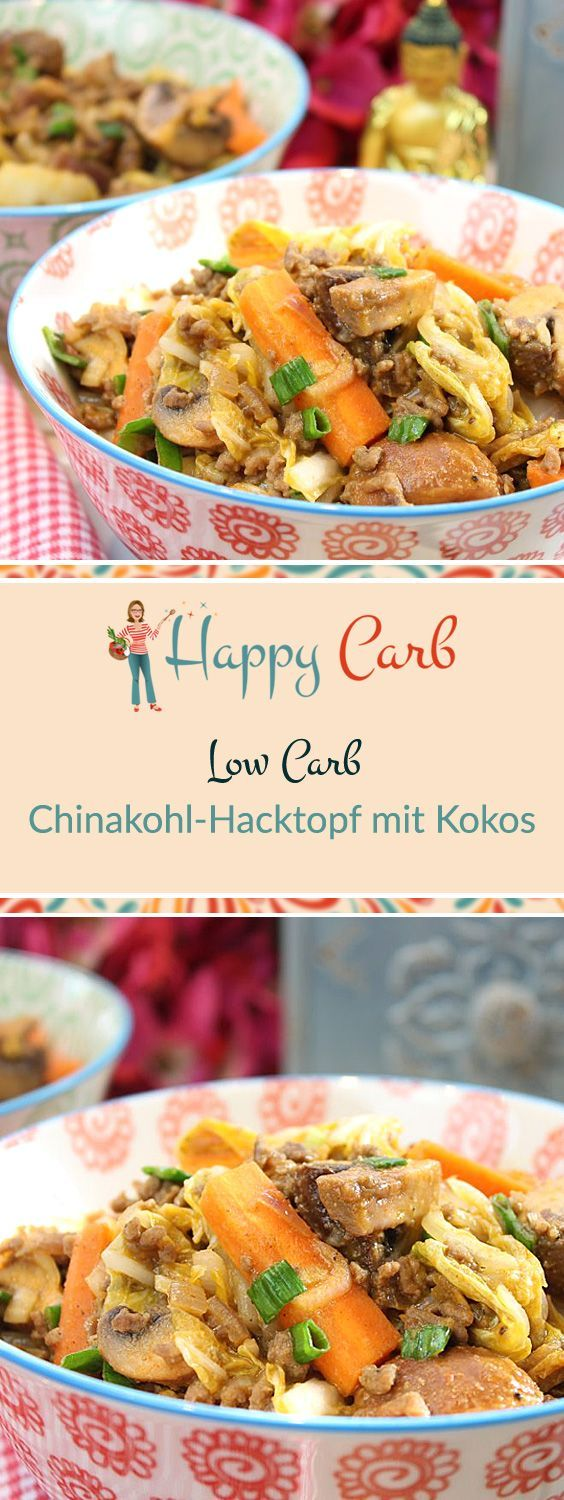 Chinakohl-Hacktopf mit Kokos | Recipe | Low carb, Healthy ...