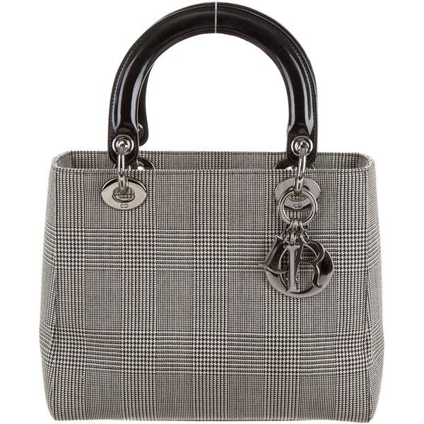Christian Dior Medium Lady Dior Bag (2.490 BRL) ❤ liked on Polyvore featuring bags, handbags, black, christian dior bags, zip bags, hand woven bags, christian dior and zipper bag
