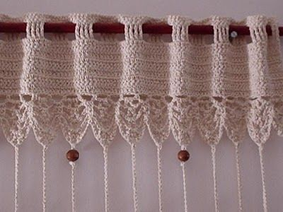 How To Crochet A Cafe Curtain Valance Instructions In Spanish