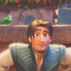 Tangled .gif...this is so sweet!! LOVE how he looks at her.