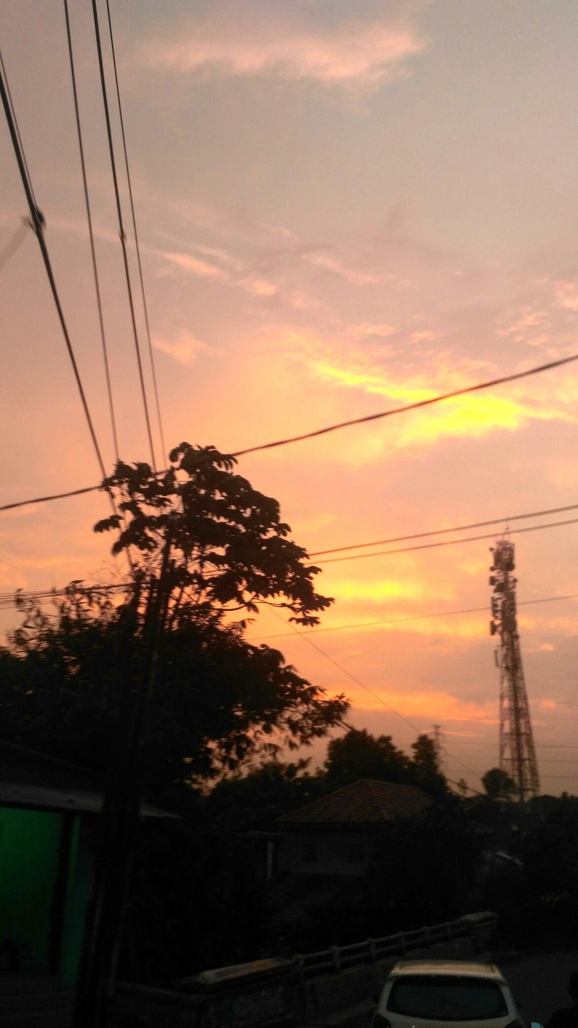 Sunset Pemandangan Fotografi Alam Pemandangan Khayalan