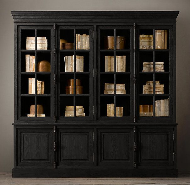 Superb Dark Charcoal Or Black Stain For The Dining Room China Hutch Would Be  Really Edgy.
