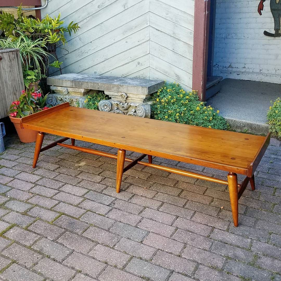 Late 50s Willett Transitional Line Solid Cherry Coffee Table Bench Willett Mcm Midcentury Cherrywoo Cherry Furniture Cherry Coffee Table Coffee Table Bench