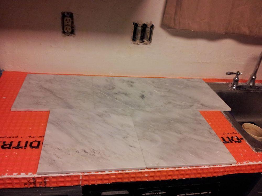 Marble Countertop Hack How To Tile Over Laminate Countertop Diy