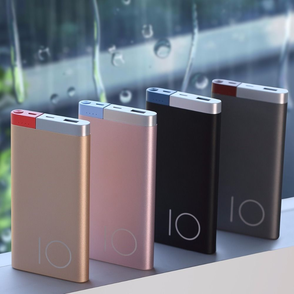 Slim Battery Power Bank 10000 mah Portable Ultra-Thin Polymer Alloy Power Bank #Ultra