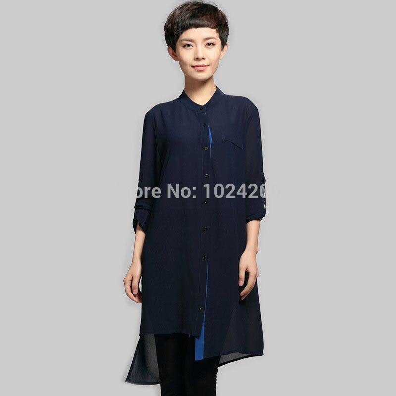 Find More Blouses & Shirts Information about Free Shipping Autumn Summer New 2014 Causul Women Blue Chiffon Shirt Long Sleeve Loose Long Style Fashion Solid Color Blouses,High Quality blouse women,China blouse striped Suppliers, Cheap blouse 18 from XJD Store on Aliexpress.com