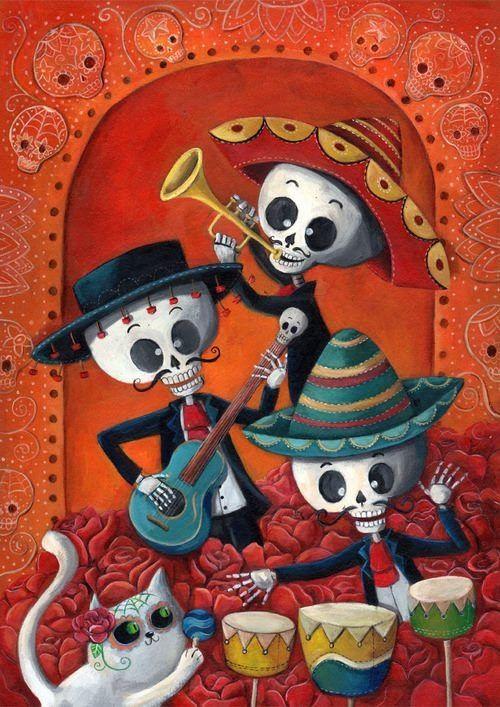 Mariachi Dia De Los Muertos Arte De Calavera De Alfenique Dibujo Dia De Muertos Craneo De Azucar