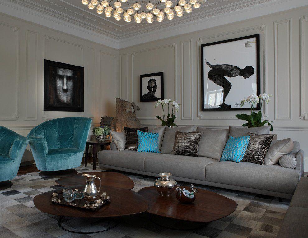 Soggiorno contemporaneo ~ Soggiorni contemporanei u idee e stile per un soggiorno