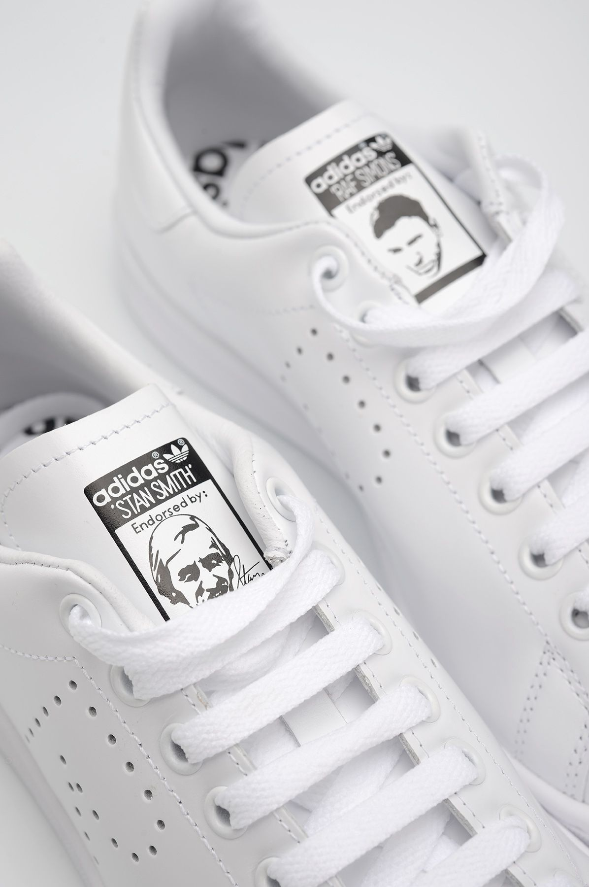 adidas x raf simons bianco stan smith uomini delle calzature