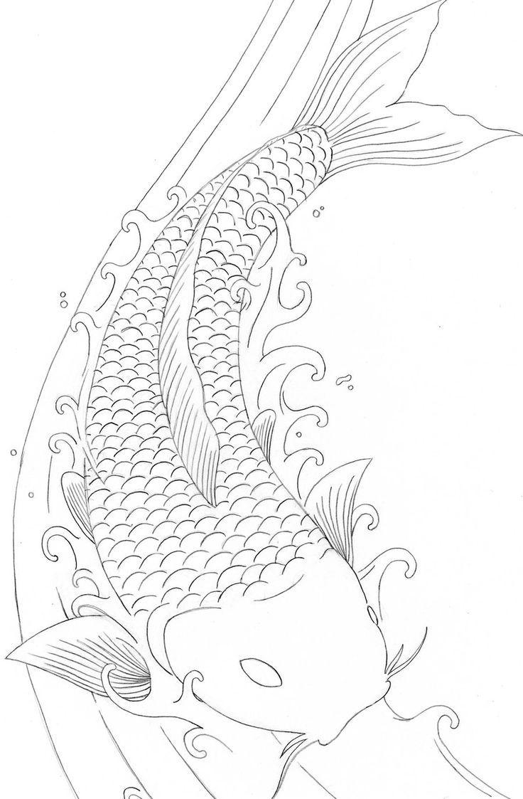 Koi Fish Coloring Pages Free … | Pinteres…