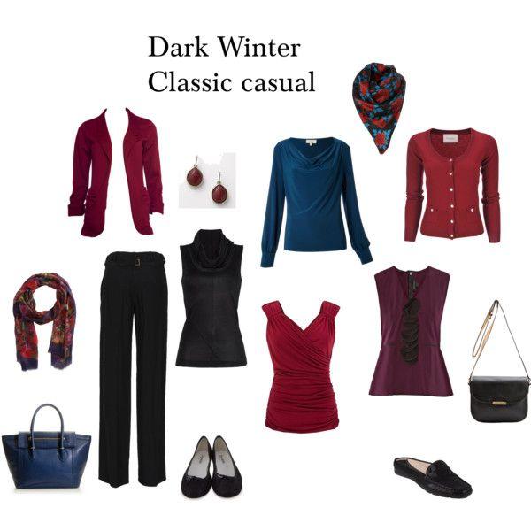 Dark Winter Classic casual | Deep winter colors, Deep ...