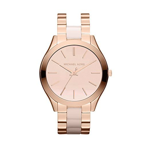 Michael Kors Womens Slim Runway Rose GoldTone Watch MK4294 * Find out more about the great product at the image link.