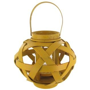Yellow Wooden Candle Lantern with Handle | Shop Hobby ... on Candle Globes Hobby Lobby id=99185