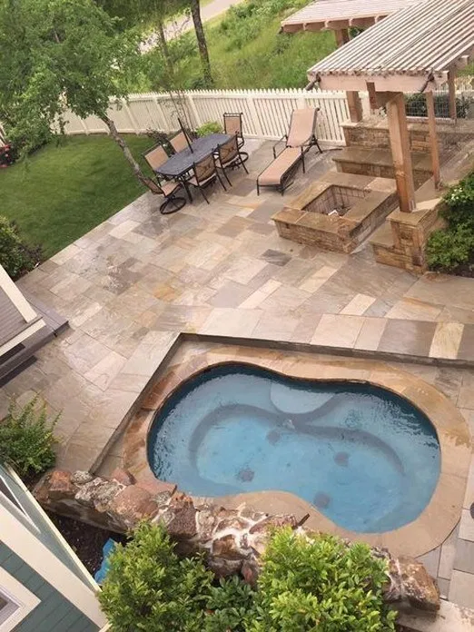 14 Our New Stock Tank Swimming Pool In Our Sloped Yard Patio Luxury Pools Backyard Backyard Pool