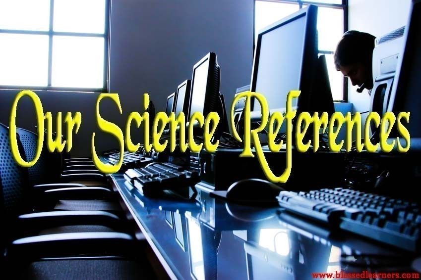 Our Science References - Blessed Learners - Our Journey of Learning