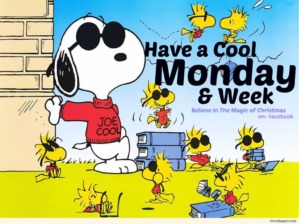 Happy monday snoopy woodstock 4 18 16 snoopy - Charlie brown bilder ...