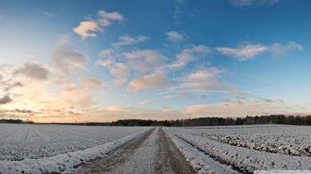 雪のフィールドは農村部カバー フィールズ 自然 高解像度で壁紙