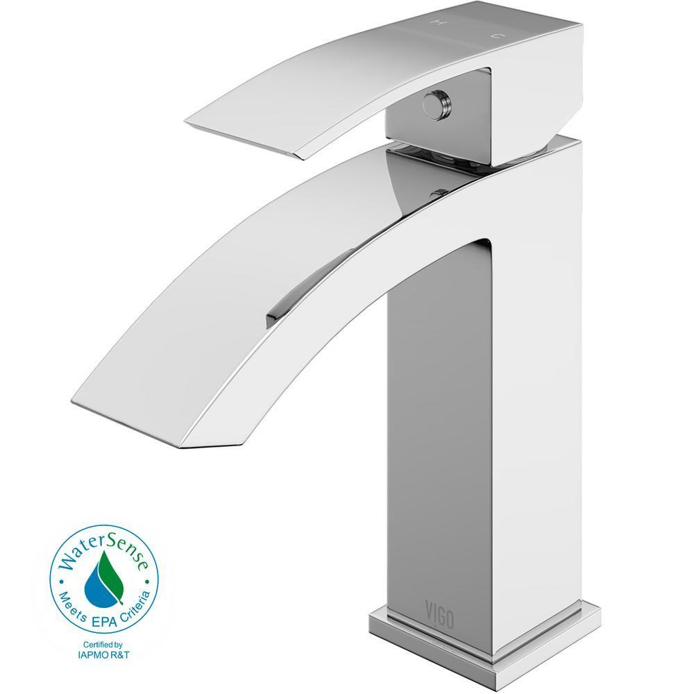 Vigo Satro Single Hole Single Handle Bathroom Faucet In Chrome Vg01015ch The Home Depot Bathroom Faucets Single Handle Bathroom Faucet Single Hole Bathroom Faucet [ 1000 x 1000 Pixel ]