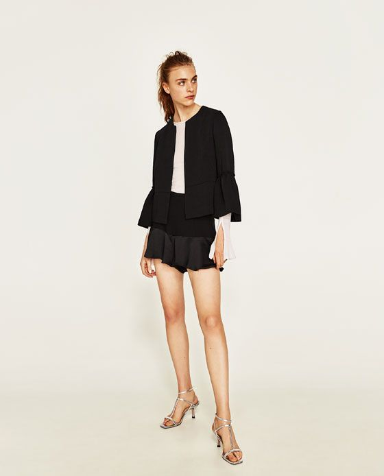 BLAZER WITH BELL SLEEVES | Bell sleeves, Blazers for women