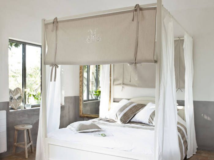 White canopy bed  Elle Decoration  http   www kenisahome com. White canopy bed  Elle Decoration  http   www kenisahome com blog
