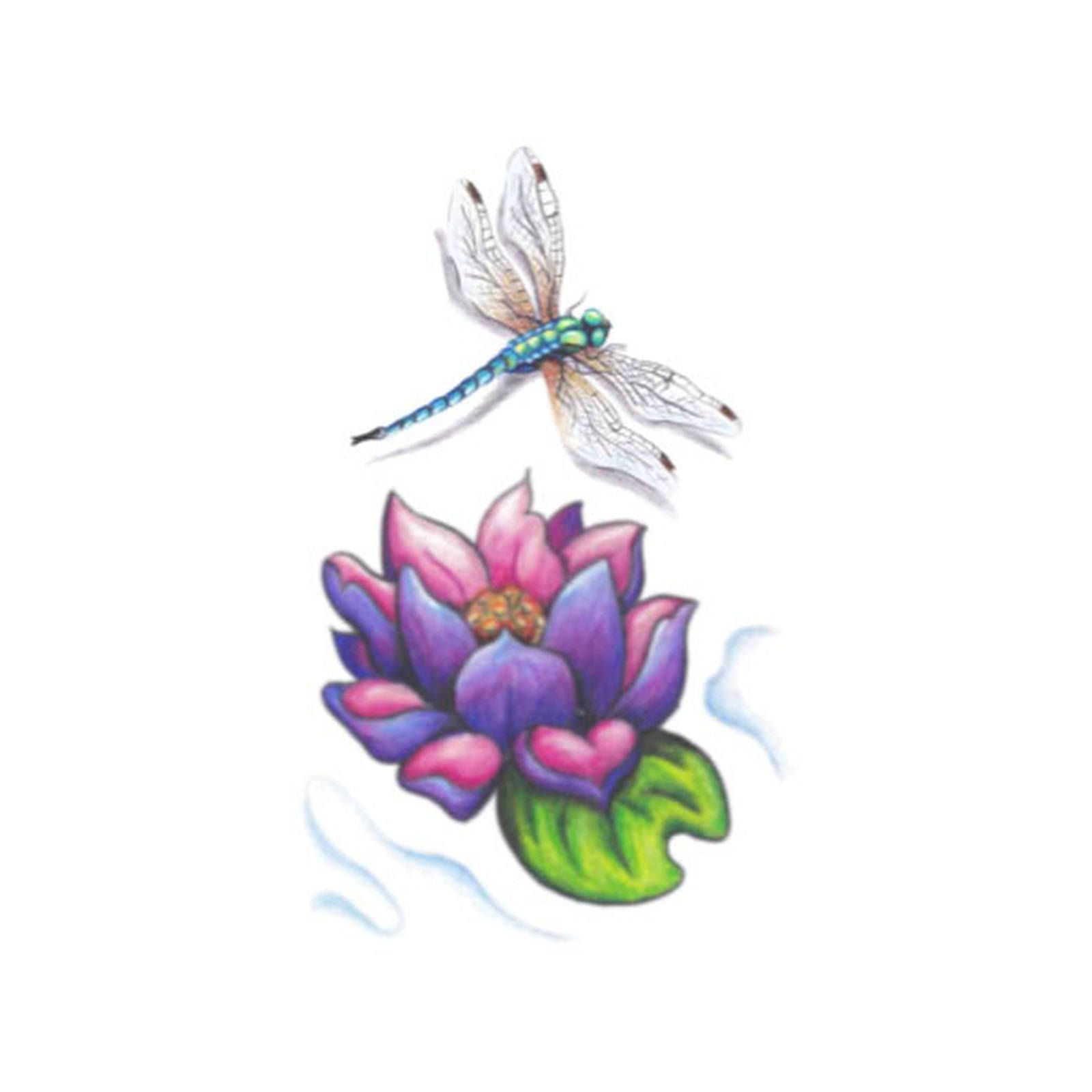 Image Result For Lotus Flower And Dragonfly Tattoo Neck Tattoos