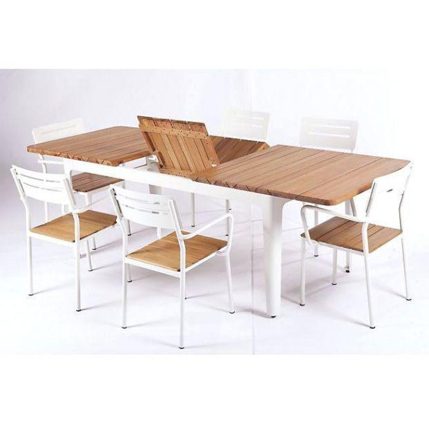 Table Jardin Aluminium Extensible Salon De Jardin Extensible Woole