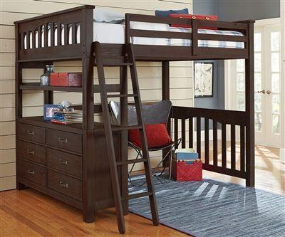 Ne Kids Highlands Furniture 11080 Full Size Loft Bed With