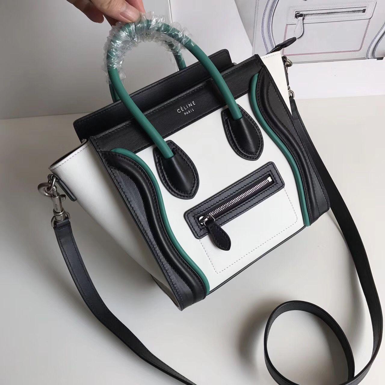 Celine Boston luggage bag nano size 20cm original leather version ... e22cadb9f54dd