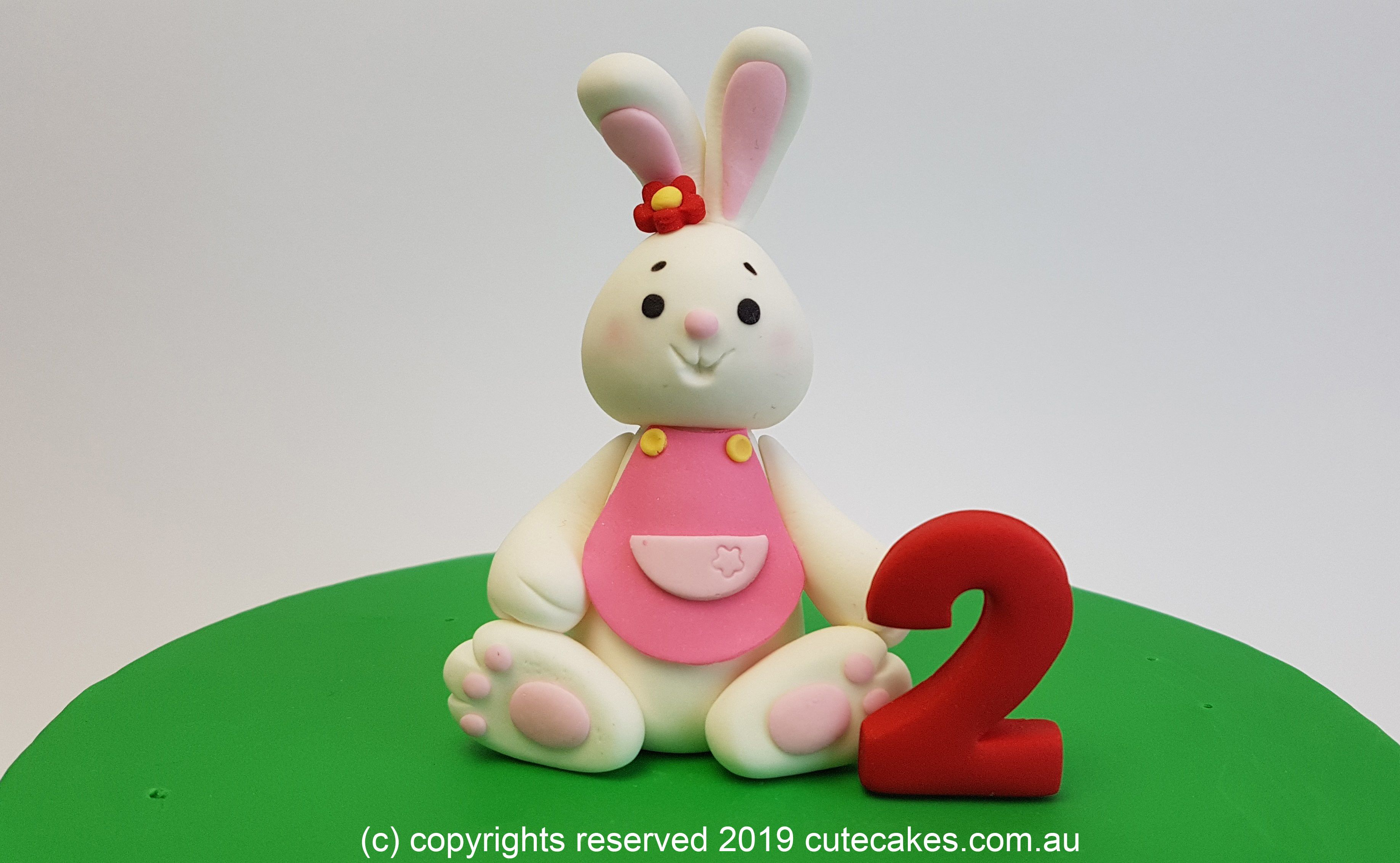 Bunny Cake Topper Rabbit First Birthday Second Third Fourth Easter Bunny Cake