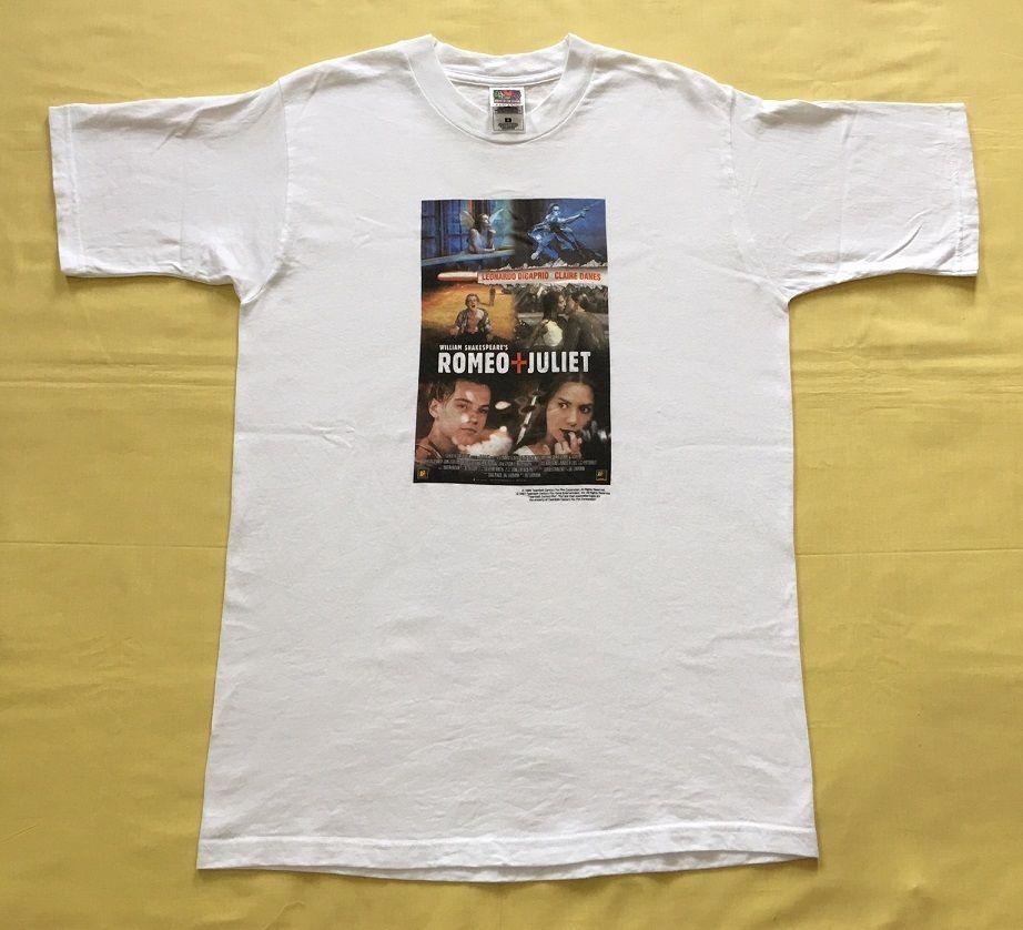644411ee vintage 90s ROMEO AND JULIET Leonardo Dicaprio Claire Danes PROMO MOVIE t- shirt #vintagetshirt #movietshirt #romeoandjuliet
