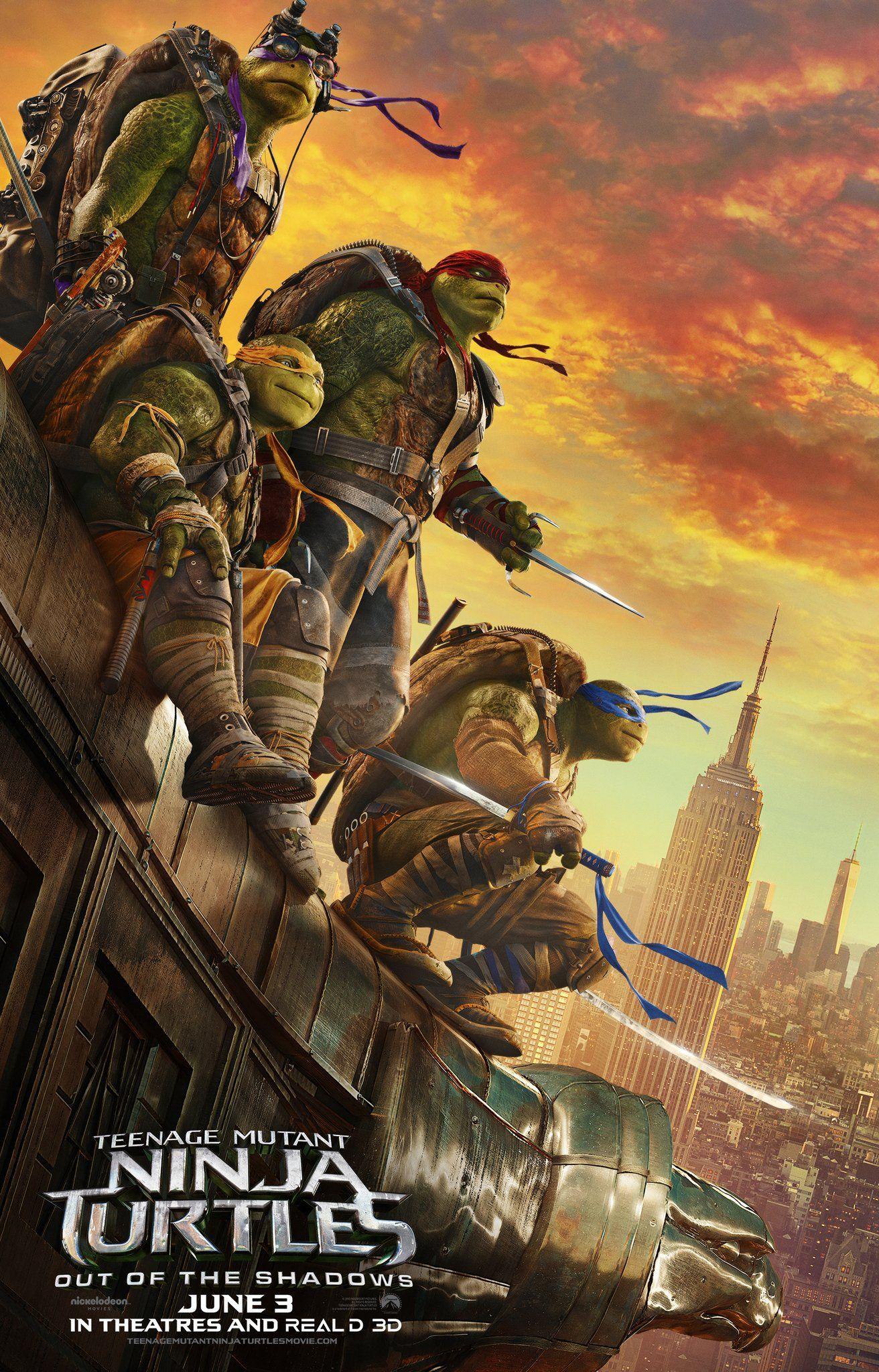Teenage Mutant Ninja Turtles Out Of The Shadows 2016 Film Poster Ninja Turtles Movie Teenage Mutant Ninja Turtles Movie Ninja Turtles