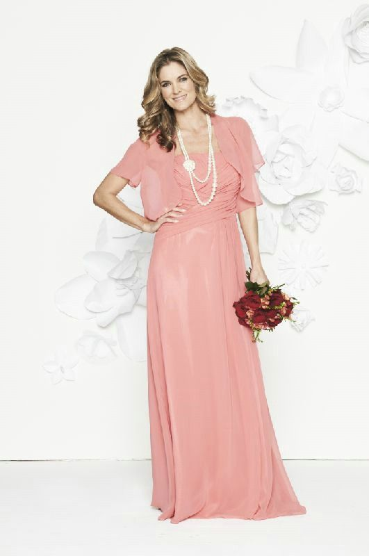 Strapless Ruched Empire Floor Length Elegant With Jacket ...